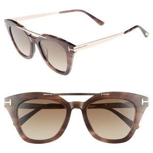 New TOM FORD Anna Cat Eye Brown Sunglasses